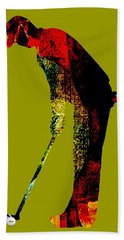 Golf Collection Hand Towel by Marvin Blaine
