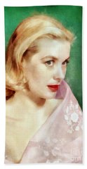 Grace Kelly By John Springfield Hand Towel