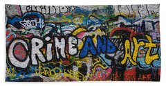 Grafitti On The U2 Wall, Windmill Lane Hand Towel by Panoramic Images