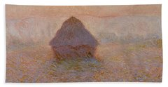 Grainstack, Sun In The Mist Hand Towel