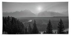 Grand Teton Sunset At Snake River  Bath Towel
