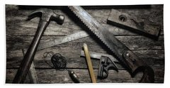 Hand Towel featuring the photograph Granddad's Tools by Mark Fuller