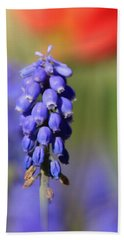 Bath Towel featuring the photograph Grape Hyacinth by Chris Berry
