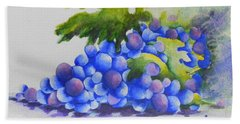 Grapes Bath Towel by Chrisann Ellis
