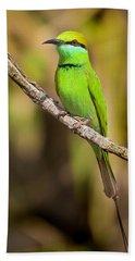 Green Bee-eater Bath Towel