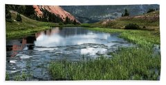 Hand Towel featuring the photograph Grey Copper Gulch by Jay Stockhaus