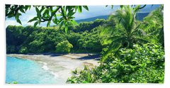 Bath Towel featuring the photograph Hamoa Beach Hana Maui Hawaii by Sharon Mau