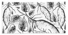 Hand Drawn Of Sweet Potato On White Background Hand Towel