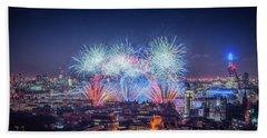 Happy New Year London Bath Towel