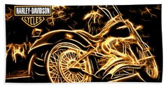 Hand Towel featuring the photograph Harley-davidson by Aaron Berg