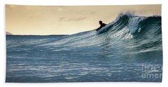 Hawaii Bodysurfing Sunset Polihali Beach Kauai  Hand Towel