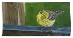 Hand Towel featuring the painting Hello by Wendy Shoults