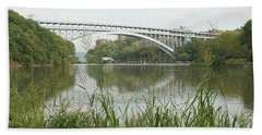 Hand Towel featuring the photograph Henry Hudson Bridge by Cole Thompson