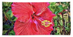 Hand Towel featuring the photograph Hibiscus Flower by Lewis Mann
