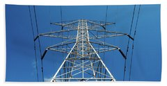 High Voltage Power Lines Hand Towel