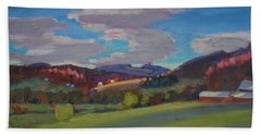 Hills Of Upstate New York Bath Towel