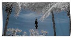 Hillsboro Inlet Lighthouse Bath Towel by Louis Ferreira