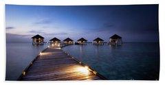 Honeymooners Paradise Hand Towel by Hannes Cmarits