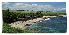 Ho'okipa Beach View From Ho'okipa Beach Park Hana Maui Hand Towel