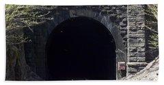 Hoosiac Train Tunnel Bath Towel by Catherine Gagne
