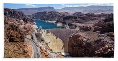Hoover Dam Hand Towel by RicardMN Photography