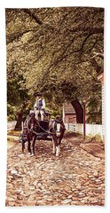 Horse Drawn Wagon Bath Towel