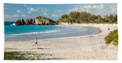 Horseshoe Bay In Bermuda Hand Towel
