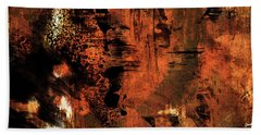 Hot Desert Night - Abstract Landscape Desert Painting Bath Towel