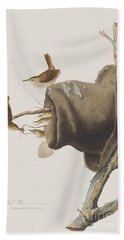 House Wren Hand Towel by John James Audubon