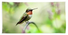 Hand Towel featuring the photograph Hummingbird II by Christina Rollo