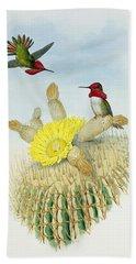 Hummingbirds Hand Towel by John Gould