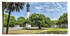 Hunting Island Lighthouse Hand Towel by Scott Hansen