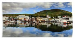 Husavik Harbor Bath Towel