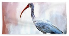 Ibis Bath Towel by Cyndy Doty