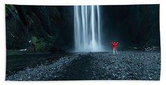 Iceland Waterfall Hand Towel