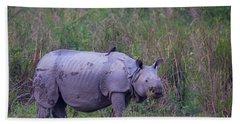 Indian Rhinoceros, India Hand Towel