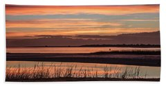 Inlet Watch Sunrise Hand Towel by Phil Mancuso