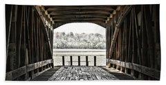 Inside The Covered Bridge Bath Towel by Joanne Coyle
