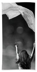 Into The Atmosphere - Black And White Bath Towel