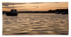 Bath Towel featuring the photograph Irish Dusk by Ian Middleton