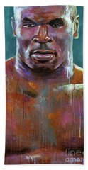 Hand Towel featuring the painting Iron Mike by Robert Phelps
