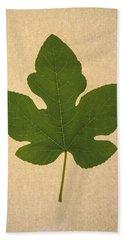 Bath Towel featuring the photograph Italian Honey Fig Leaf by Frank Wilson