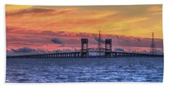 James River Bridge Hand Towel by Jerry Gammon