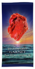 January Birthstone Garnet Bath Towel