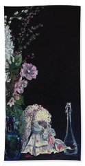 Hand Towel featuring the painting Jenibelle by Jane Autry