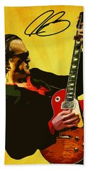 Joe Bonamassa Hand Towel by Semih Yurdabak