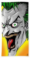 Joker Bath Towel by Salman Ravish