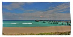 Bath Towel featuring the photograph 1- Juno Beach Pier by Joseph Keane