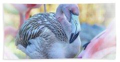 Juvenile Flamingo Hand Towel