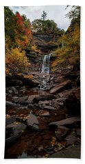Kaaterskill Falls  Bath Towel by Anthony Fields